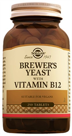 Solgar Brewers Yeast with Vitamin B12 250 tb.