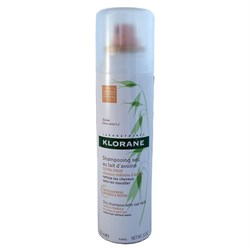 Klorane Dry Shampoo with Oat Milk (for Brown to Dark Hair) 150 ml.